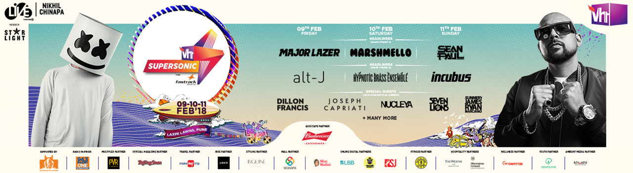 Vh1 Supersonic 2018 in Laxmi Lawns: Pune